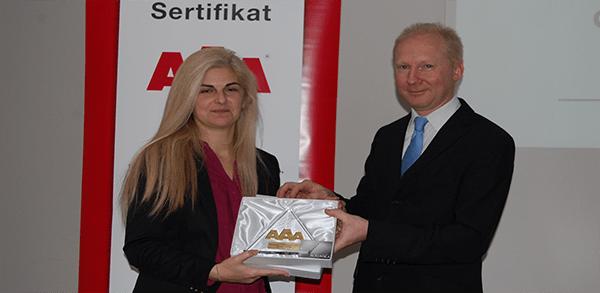 AAA Sertifikat - Mlekara Spasojević